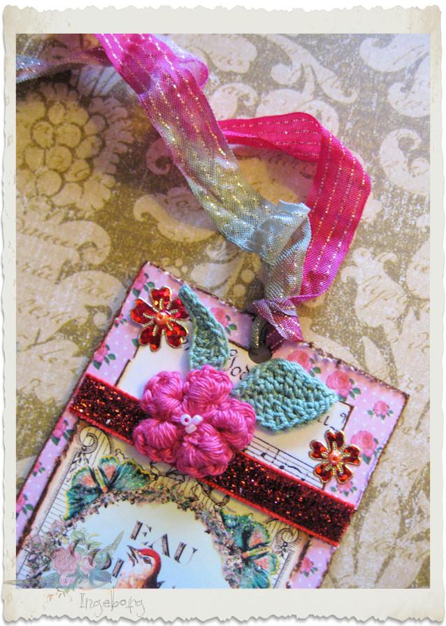 Ribbons and crochet flower