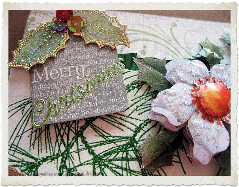 Stamped tag for Christmas