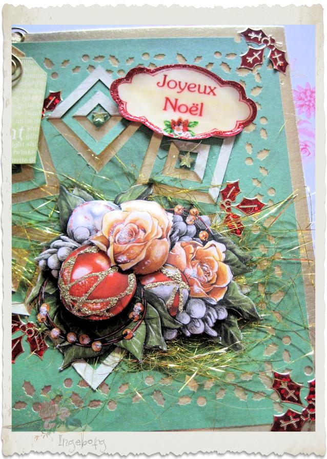 Details of handmade Christmas card