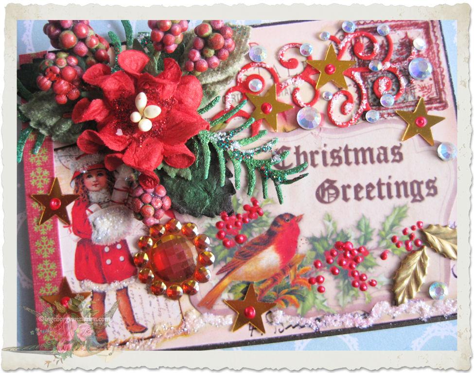 Christmas greetings ATC