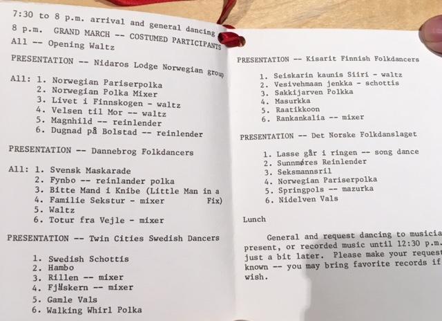 1977 First Nordic Ball program inside