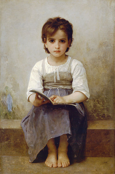 """The Difficult Lesson"" by William-Adolphe Bouguereau"