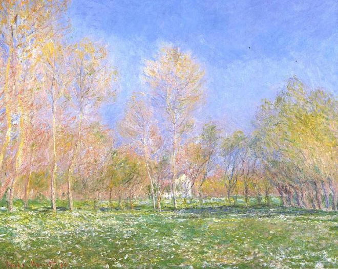 """Springtime in Giverny"" by Claude Monet"