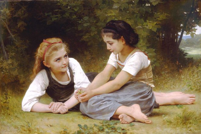 """""""The Nut Gatherers"""" by William-Adolphe Bouguereau"""