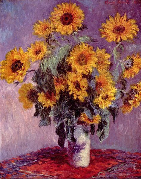 """Sunflowers"" by Claude Monet"