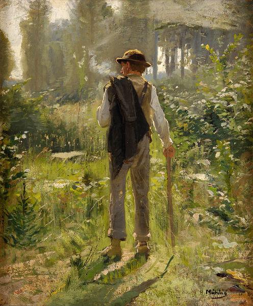 """Walk in the Woods"" by Hugo Mühlig"