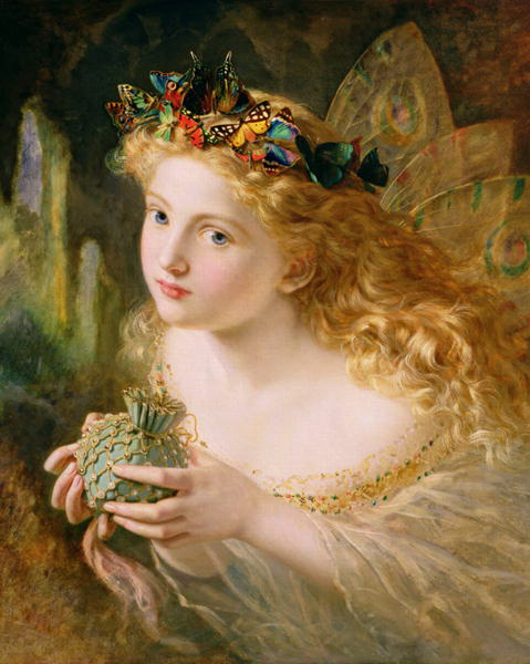"""Take the Fair Face of Woman & Gently Suspending, With Butterflies, Flowers & Jewels Attending, Thus Your Fairy Is Made of Most Beautiful Things"" by Sophie Gengembre Anderson"
