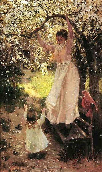 """Falling Apple Blossoms"" by Hamilton Hamilton"