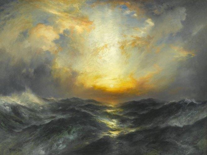 """""""Sunset at Sea"""" by Thomas Moran"""