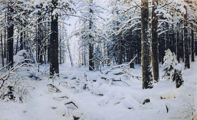 """Winter"" by Ivan Shishkin"