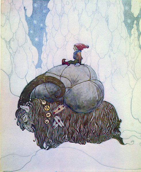 """Yule Goat"" by John Bauer (1882-1918) Swedish Illustrator"