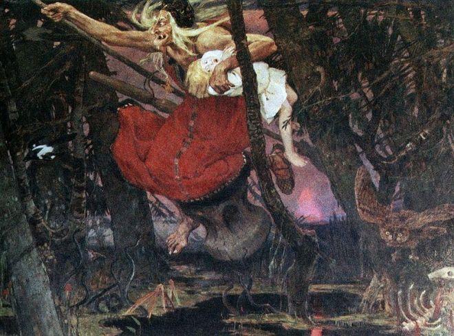 """""""Baba Yaga"""" by Viktor Vasnetsov"""