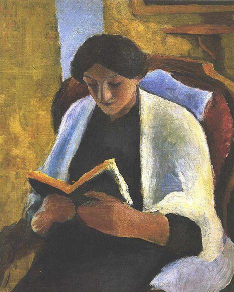 """Reading Woman"" by August Macke"