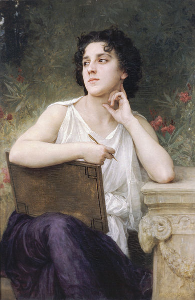 """""""Inspiration"""" by William-Adolphe Bouguereau"""