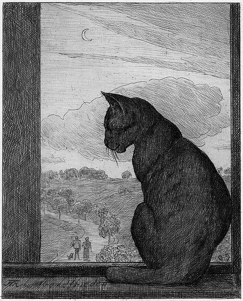 """""""The Cat"""" by Hans Thoma"""