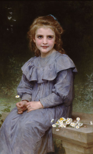 """Daisies"" by William-Adolphe Bouguereau"