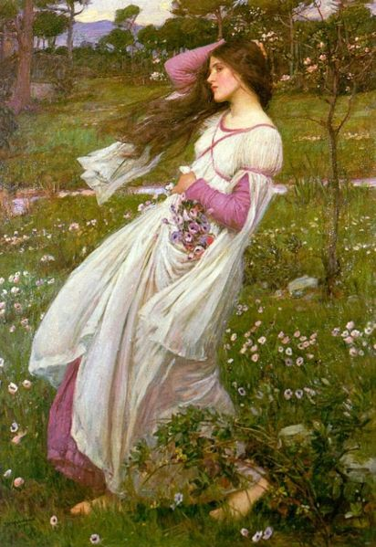 """Windflowers"" by John William Waterhouse"