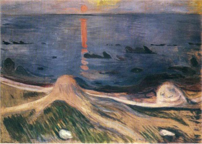 """The Mystery of a Summer Night"" by Edvard Munch"