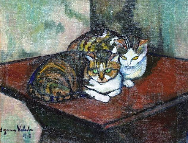 """""""Two Cats"""" by Suzanne Valadon"""