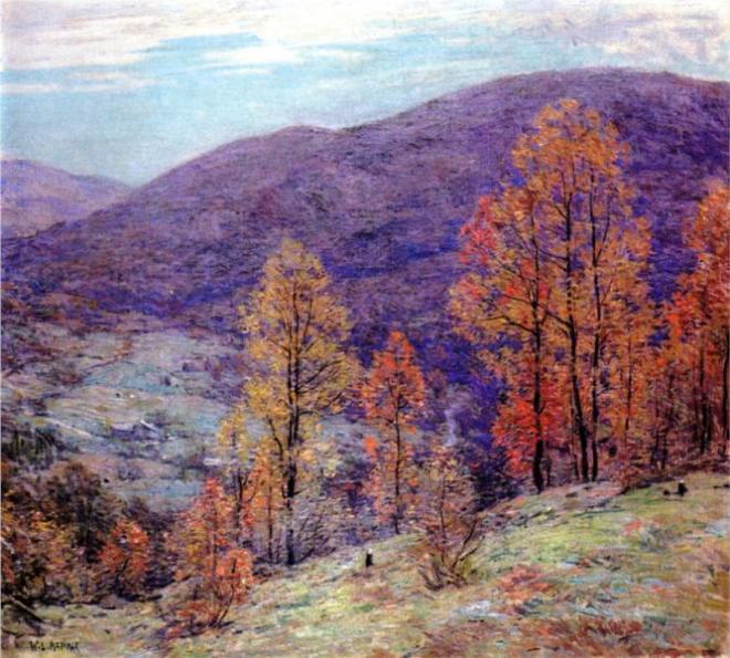 """Autumn Glory"" by Willard Metcalf"