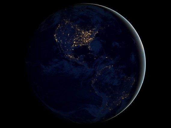 """Earth at Night"" image by NASA"