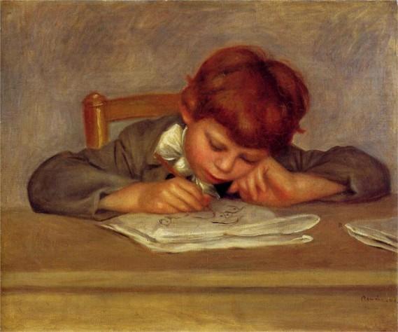 """""""Jean Drawing"""" by Pierre-Auguste Renoir"""