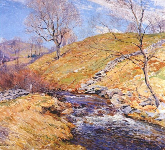 """Brook in March"" by Willard Metcalf"