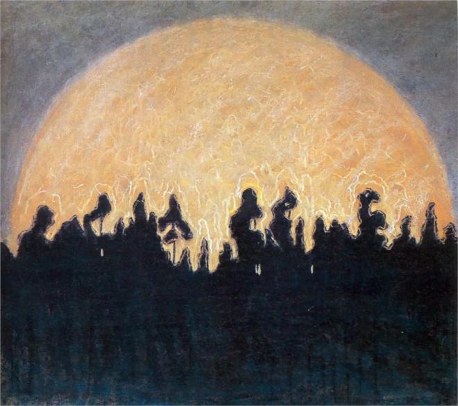 """The Sun"" by Mikalojus Čiurlionis (1875-1911) Lithuanian Painter, Composer & Writer"