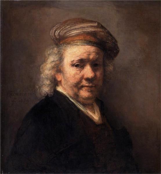 """""""Self-Portrait, 1669"""" by Rembrandt (1606-1669) Dutch Painter & Etcher"""