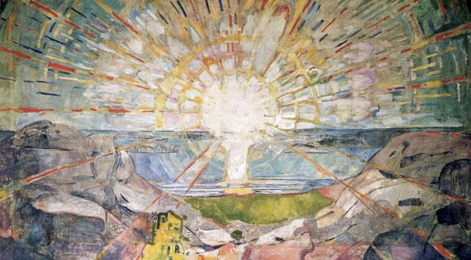 """The Sun"" by Edvard Munch (1863-1944) Norwegian Painter & Printmaker"