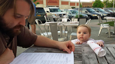 """Daddy, where's my menu?"""