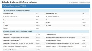 trave legno - output riepilogo - ingegnerone.com