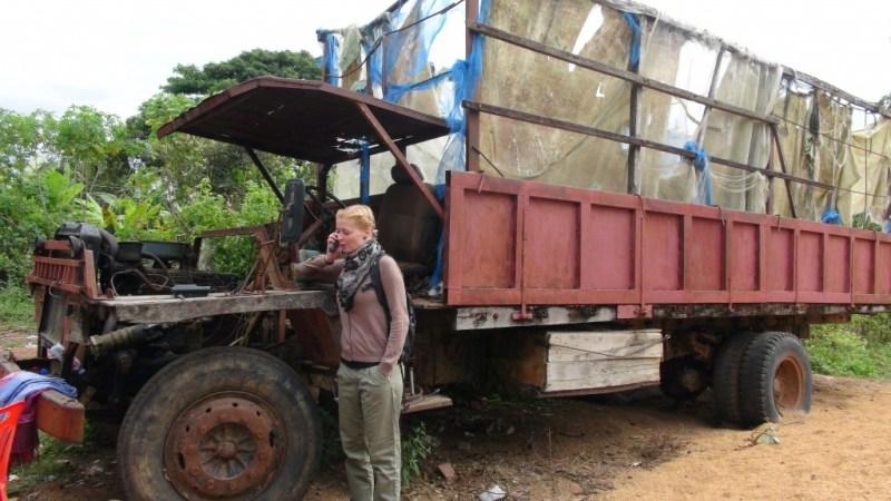 Battambang forladt lastbil