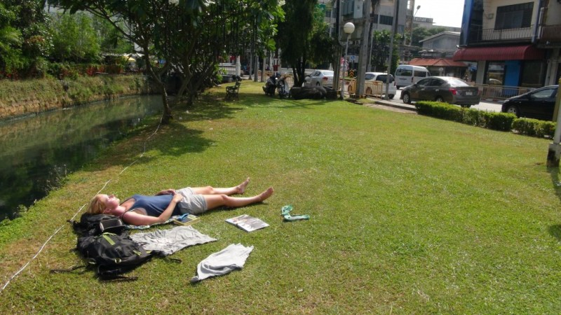 Phuket town, Thailand, backpacking, park