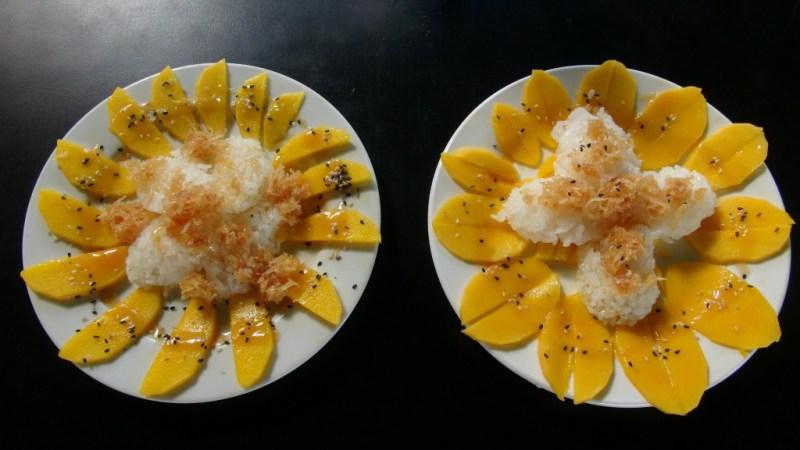 Sticky rice med mango