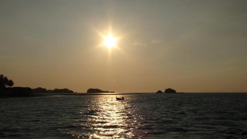 Thailand, koh lanta, liveaboard, dykning, manta, solnedgang