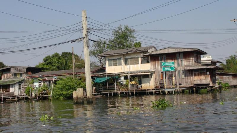 Bangkok, thailand, flydende landsby, marked