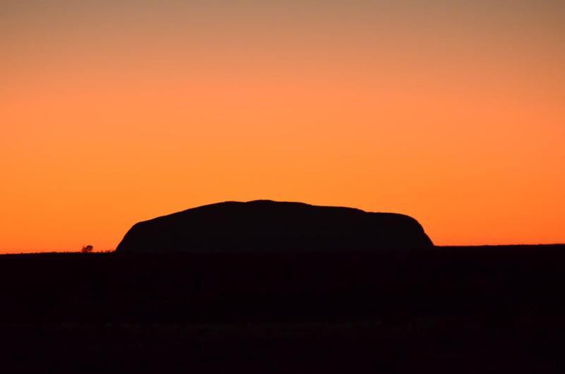 Solnedgang over Uluru
