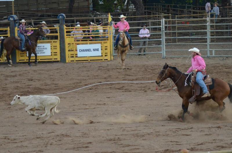 Konkurrence på tid, i at fange og binde kalve.