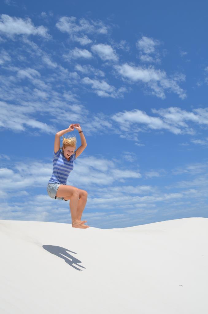 Tid til leg i sandørkenen ved Green head