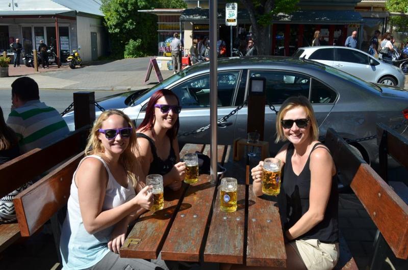 Eftermiddags øl i Hahndorf