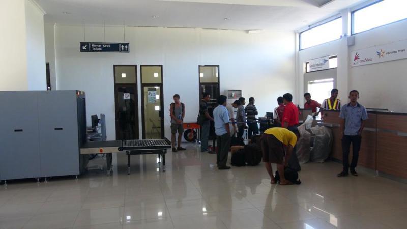 Den mindste lufthavn vi har været i.