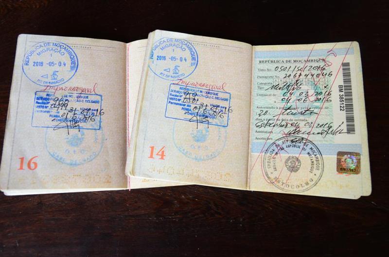 Mozambique visum extend, pemba