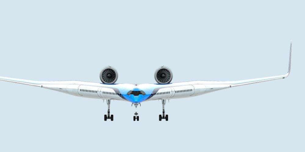 """En este avión con forma de """"V"""" los pasajeros viajan en las alas para mayor eficiencia"""