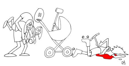Rulleskøyter og sparkesykkel