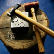 jewellery making tools, hammers and rings
