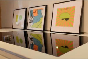 Editions of 10 artwork on display at bulthaup