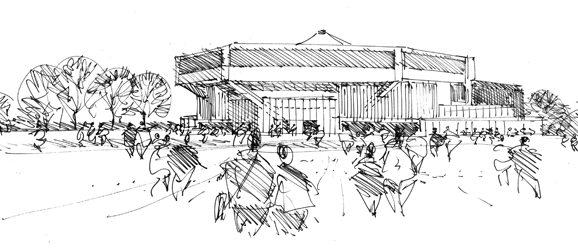 Chichester Festival Theatre, artist's impression by Steve Tompkins