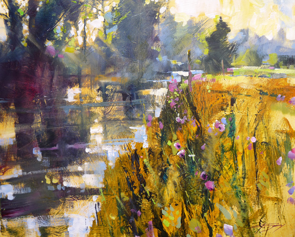 River mist and Spring flowers