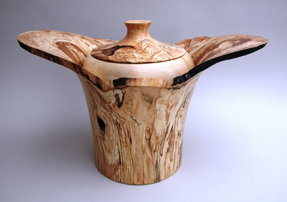 John Plater, Spalted Beech & Holly Bowl - The Sussex Guild